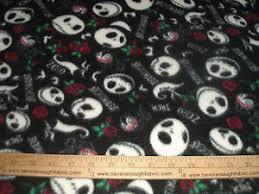 nightmare before fleece fabric decorating