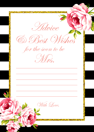Advice Cards For The Bride 2 Free Printable Games Archives Bridal Shower Ideas Themes