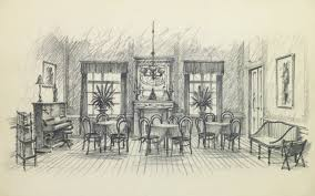 1950 dining room furniture pencil drawing dining room circa 1950