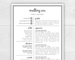 Examples Of Cover Letter For Resume by Modern Resume Etsy