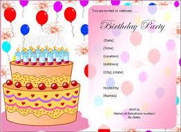 birthday party invitations free birthday party invitation templates get form templates