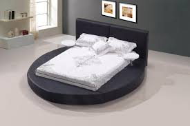 Images Of Round Bed by Modrest Atlas Modern Black Bonded Leather Round Bed