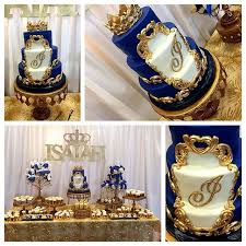 royal blue and gold baby shower royal blue and gold baby shower dessert table fit for a prince