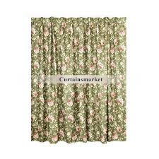 Vintage Green Curtains Unique Vintage Printing Floral Curtains Length