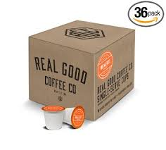 keurig k cups light roast real good coffee co recyclable k cups breakfast blend light roast