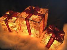 Outdoor Christmas Decorations Lighted Packages lighted christmas presents ebay