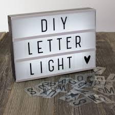 light up letters diy diy cinematic light up sign box cinema led letter l home decor