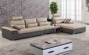 two color combination leather sofa living room furniture sets