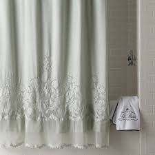 Frilly Shower Curtain Anthropologie White French Lace Netting Ruffle Shower Curtain