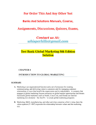test bank global marketing 8th edition solution by sourcandy issuu