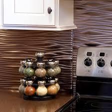 fasade kitchen backsplash fasade waves 18 x 24 vinyl tile backsplash in brushed nickel