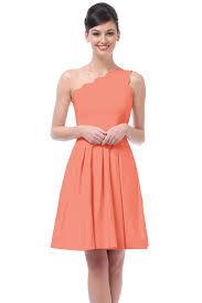 coral bridesmaid dress lstore