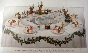 christmas table decorations and centerpieces a hundred years ago
