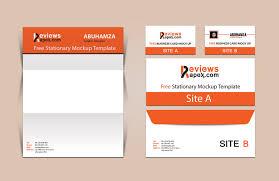 brand identity business card letterhead mockup free
