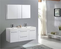 Modern Bathroom Vanity Cabinets Bathroom Aquamoon 54 White Modern Sink Inside
