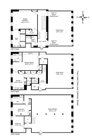 new york brownstone floor plans townhouse house pinterest