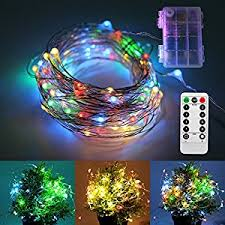 remote control battery lights amazon com remote control led string lights 33ft 8 modes 100 led