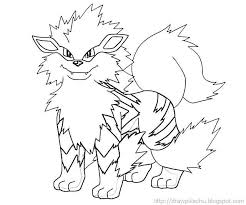 pokemon coloring pages google search arcanine coloring page google search colouring pages pinterest
