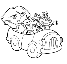 dora boots coloring page and printable the explorer coloring pages