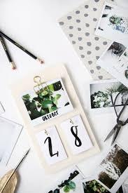 kreative ideen diy kreative diy idee schreibtisch kalender mit instax bildern