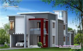 1700 sq feet flat roof contemporary home design kerala home