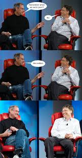 Steve Jobs Meme - steve jobs vs bill gates