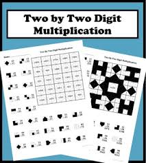 2 by 2 digit multiplication color worksheet by aric thomas tpt
