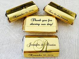 personalized favors 180 gold foil monogram wedding candy wrappers stickers labels for