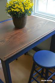 BEFORE And AFTER DIY Eatin Kitchen Table Makeover - Kitchen table top