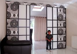 interior curtain room dividers with staggering soundproof