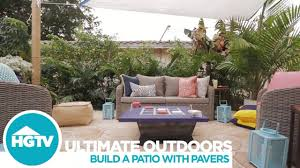 Brock Paver Base Installation by How To Install A Paver Patio Hgtv Youtube