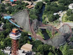 Six Flags Giant Dünyadaki En Korkunç Roller Coasterlar Gezen Kız