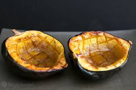 baked acorn squash recipe with butter and brown sugar with