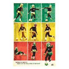 bob marley soccer rasta wall poster