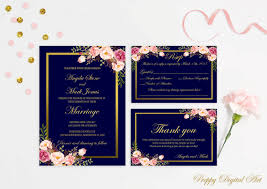 wedding invitations jacksonville fl navy blue wedding invitation printable navy wedding invitation