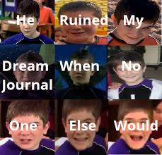 Meme Journal - he ruined my dream journal when no one else would he ruined my