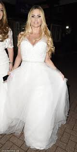 wedding dress up price is back in a wedding dress as she glams it up with