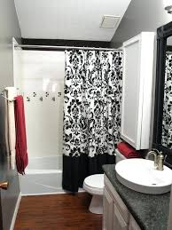 Curtains Bathroom Black And White Bathroom Curtains Choijason