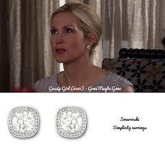 gossip girl earrings swarovski simplicity earrings look stunning on rutherford
