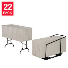 lifetime 6 commercial grade stacking folding table select color utility folding costco