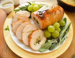 apple turkey recipes thanksgiving spinach apples u0026 bacon stuffed turkey breast
