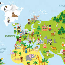 World Map Cartoon by Cartoon World Map By 79dsigns Graphicriver