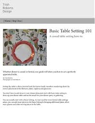 Correct Table Setting by Trishshroberts U2013 Isma 209 With George Papzian