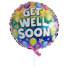 get well soon and balloons get well balloon