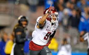Former WSU WR Gabe Marks was asked to write a letter to his        WSU wide receiver Gabe Marks had plenty of reasons to be excited Saturday night as he
