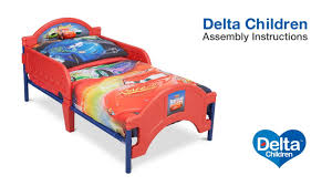 delta children toddler bed assembly video youtube