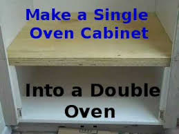 build wall oven cabinet making existing single oven cabinet into double oven youtube