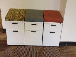 herman miller file cabinet herman miller meridian cream bf mobile pedestals w seat top