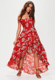 floral maxi dress floral shirred maxi dress missguided