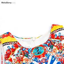summer flower red dress girls designer clothes pageant